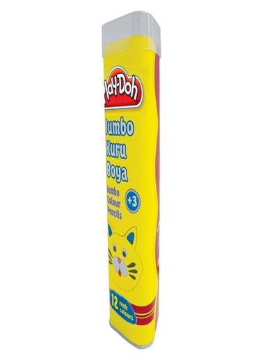 Play-Doh  Jumbo Üçgen Kuru Boya Tüp 12 Renk Renkli